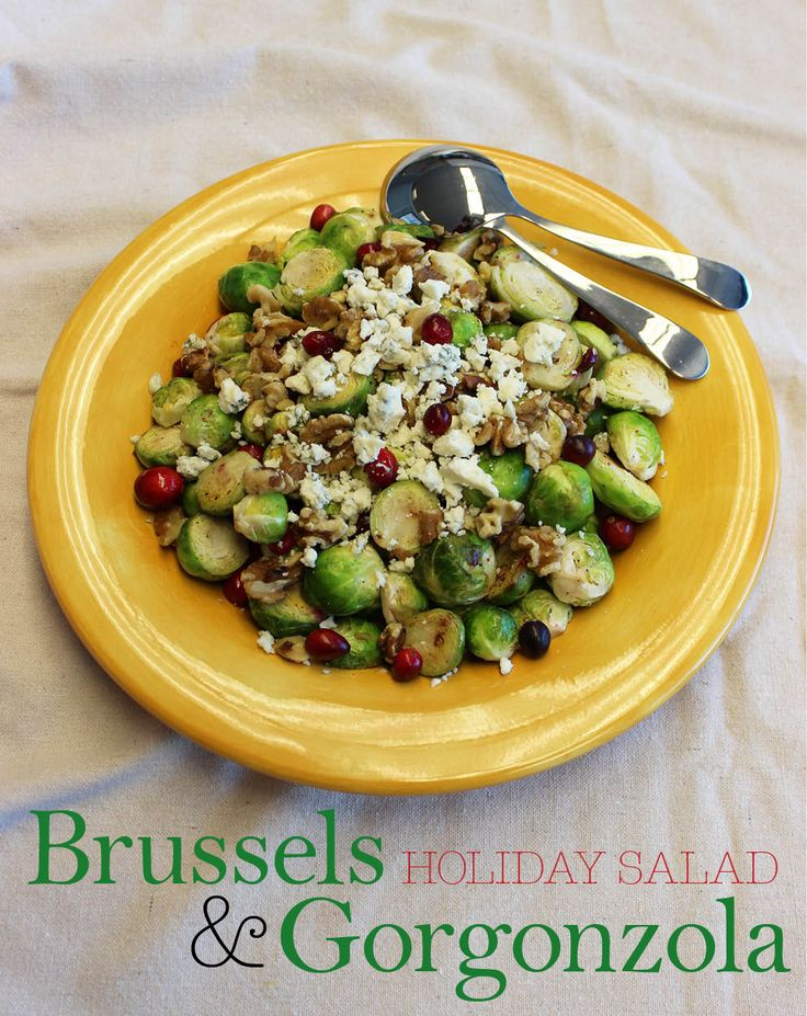 Brussels & Gorgonzola Hoiday Salad - the perfect colorful side to any Christmas table which won't pack on the pounds!