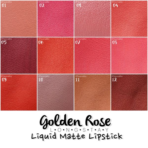 สวอชสี Golden Rose Liquid Matte Lipstick ใหม่ครบทั้งคอลเลคชั่น – FEONALITA