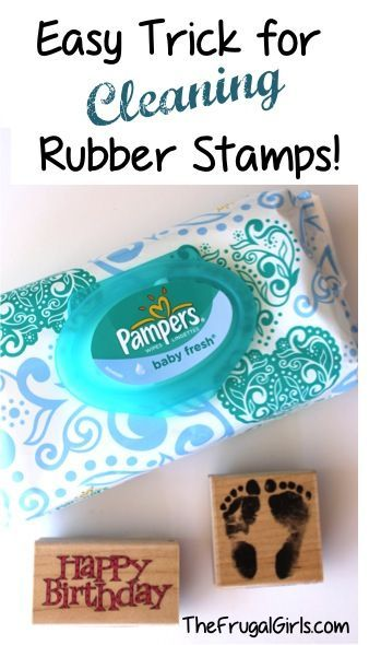How to Clean Your Rubber Stamps! ~ at TheFrugalGirls.com {this simple little trick works like a charm!} #stamps #stamping can used with www.jessicalynnoriginal.com stamps: