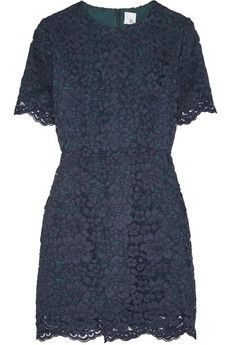 Iris and Ink Evangeline scalloped lace A-line dress | THE OUTNET