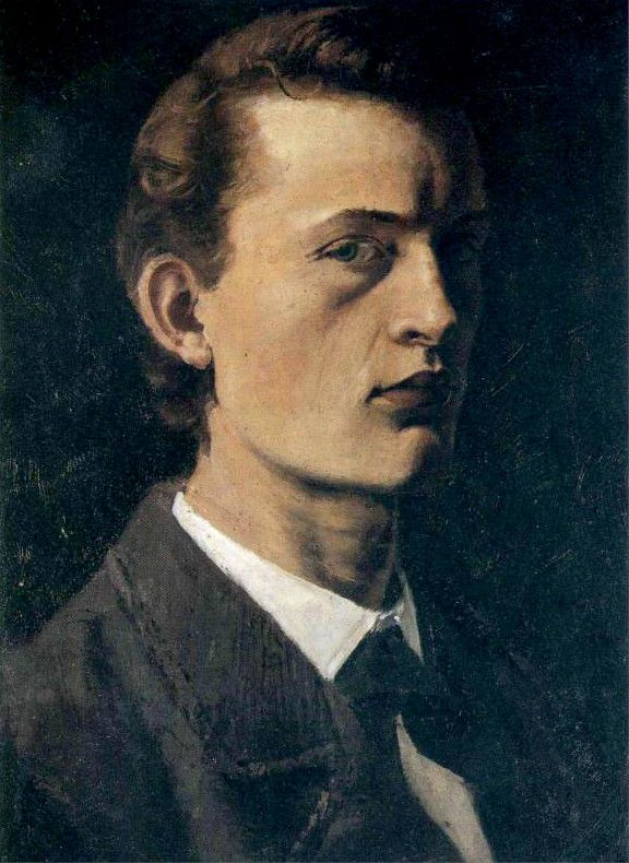Expresionismo modernista. Edvard Munch, self-portrait, 1882.