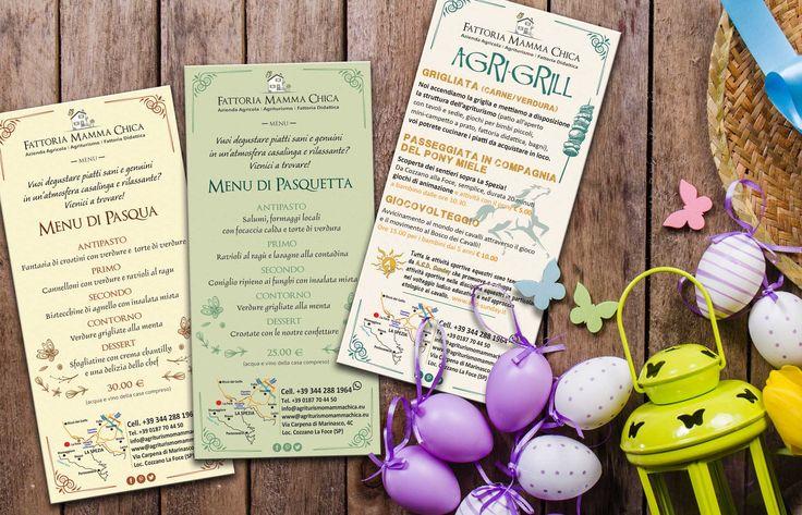 Buongiorno, a grande richiesta pubblichiamo i menù delle festività Pasquali. :) A partire da pasquetta ci sarà una grande novità l'AGRI-GRILL! Per cucinare, mangiare e divertirsi all'aria aperta.