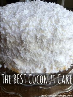 The Best Coconut Cake recipe.  My grandmother's homemade Coconut Cake is the very best coconut cake in the entire world. I have never found another coconut cake that remotely compares. Try this recipe today!