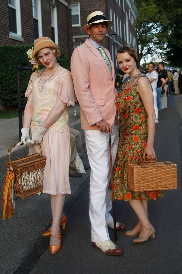 Jazz Age Lawn Party Street Style - 1920s Street Style - Elle