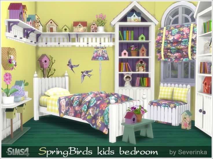 Charming Created By Severinka Kids Berdoom U0027Spring Birdsu0027 Created For: The Sims 4  Set Of Construction, Furniture And Decor Objects For Kids Room Decoration  In The ...