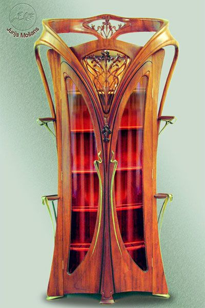 Jugendstil furniture as art in the art nouveau style.