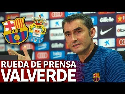 Barcelona - Las Palmas   Rueda de prensa de Valverde   Diario AS - YouTube