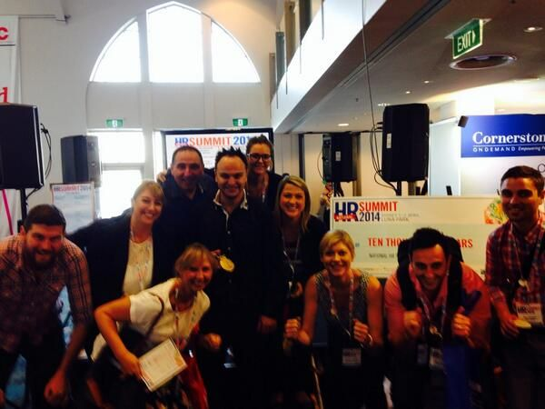 Selfie at #HRSummit_au. Photo source: @scarrolltweet