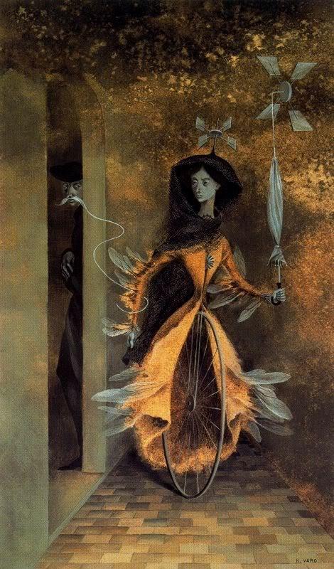 By Remedios Varo, a Spanish born Mexican surrealist artist
