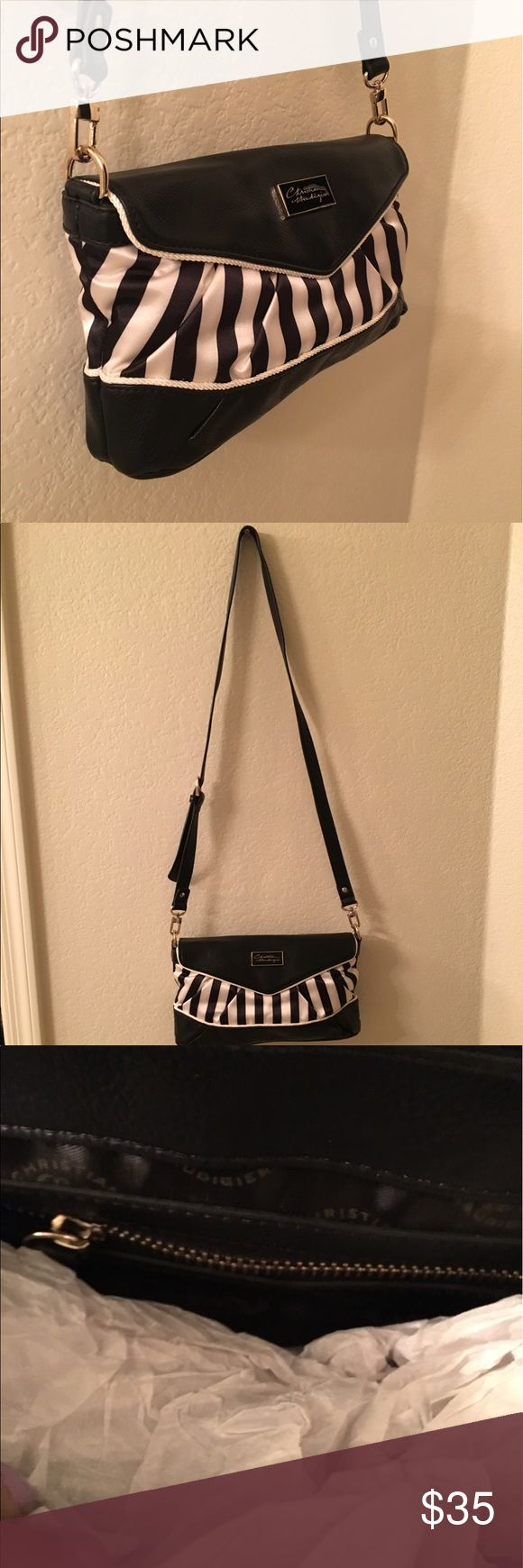 Black and White Crossover Purse Good condition. Christian Audigier Bags Crossbody Bags