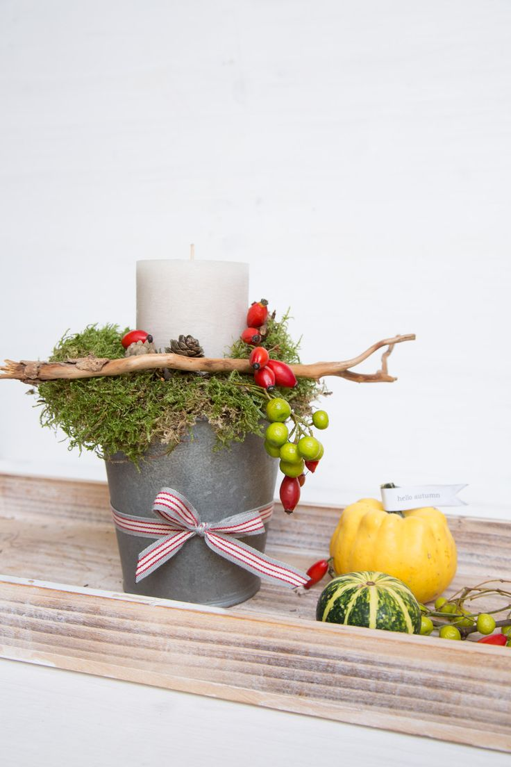 Herbstdekoration aus Naturmaterialien - Christine Robl für DIYfrollein.de