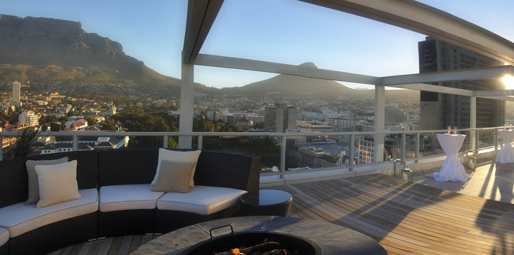 A Outdoor Room With A View - The terrace of The Presidential Suite, Taj Hotel Cape Town