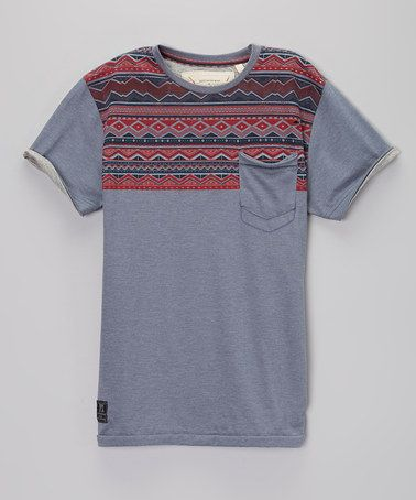 Another great find on #zulily! Indigo Aztec Tee - Boys & Men by PX Los Angeles #zulilyfinds