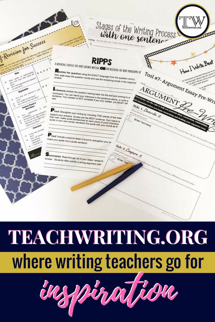 Visit Teachwriting Org For Help Inspiration And Free Resources For