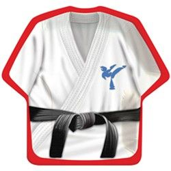 Cool shaped karate plates from www.DiscountPartySupplies.com Only $2.47 per 8 pack!