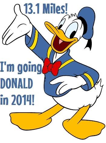 Donald half marathon 13.1 runDisney 2014