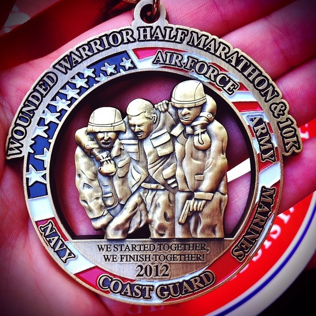 Wounded Warrior Half Marathon Medal 2012 TAPS Run and