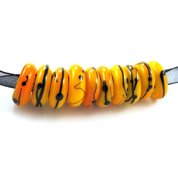 SALE  Lampwork beads set  Lampwork Glass Beads  Pandora by gaialai, $12.00