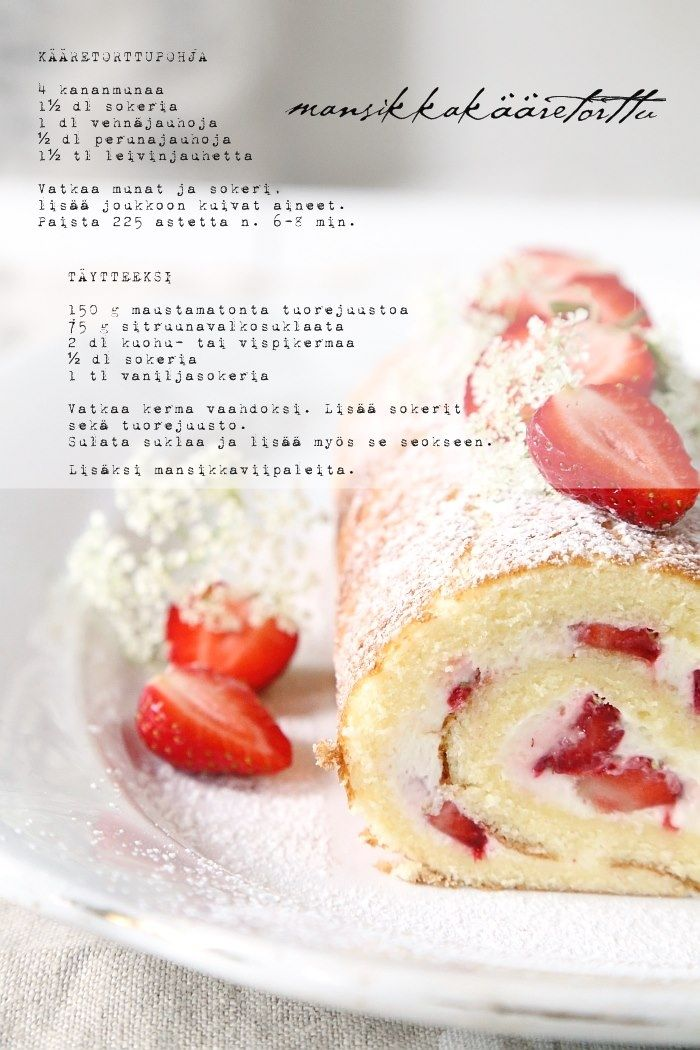 Strawberry Swiss Roll - Mansikkakääretorttu