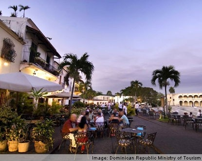 Atardecer en La Zona Colonial en Santo Domingo