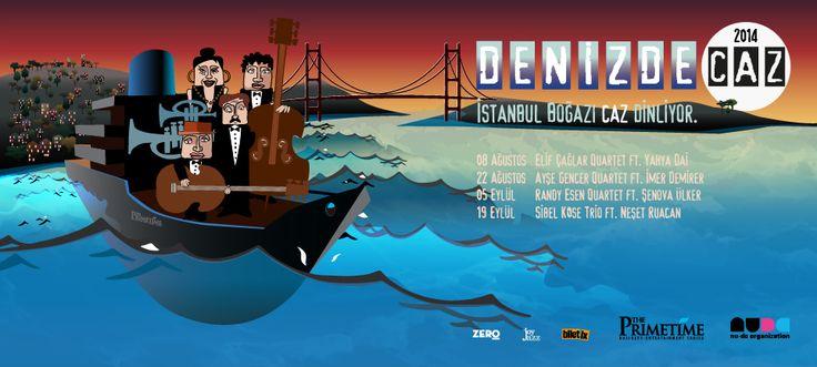 Türkiye'nin en değerli caz müzisyenleri, İstanbul Boğazı'nda buluşuyor. #caz #jazz #music #bosphorus