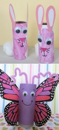 So many fun toilet paper roll craft ideas for the kiddos!! | best stuff