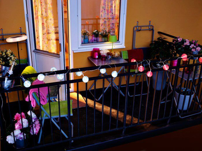 balcony - String lights in the bushes or planter boxes on balcony Patio Pinterest ...