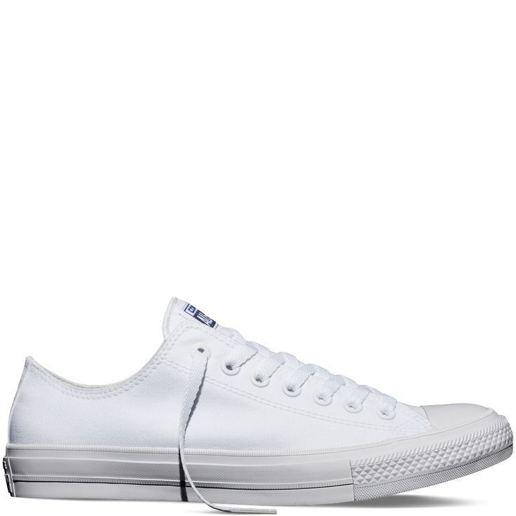 Chuck Taylor All Star II - Converse US - Color: White/White/Navy / Style: 150154C - WOMEN'S SIZE 8