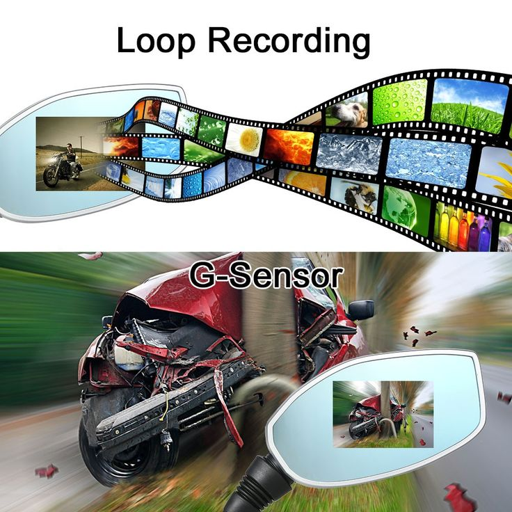 Motorcycle Rearview Mirror Twin Camera Sales Online normal - Tomtop