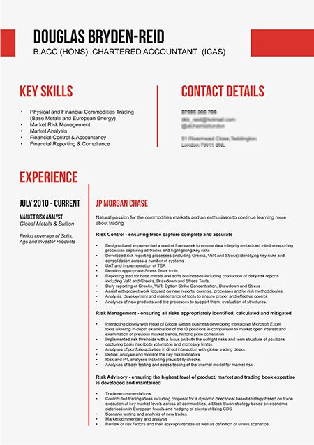 Professional and eye catching CV design