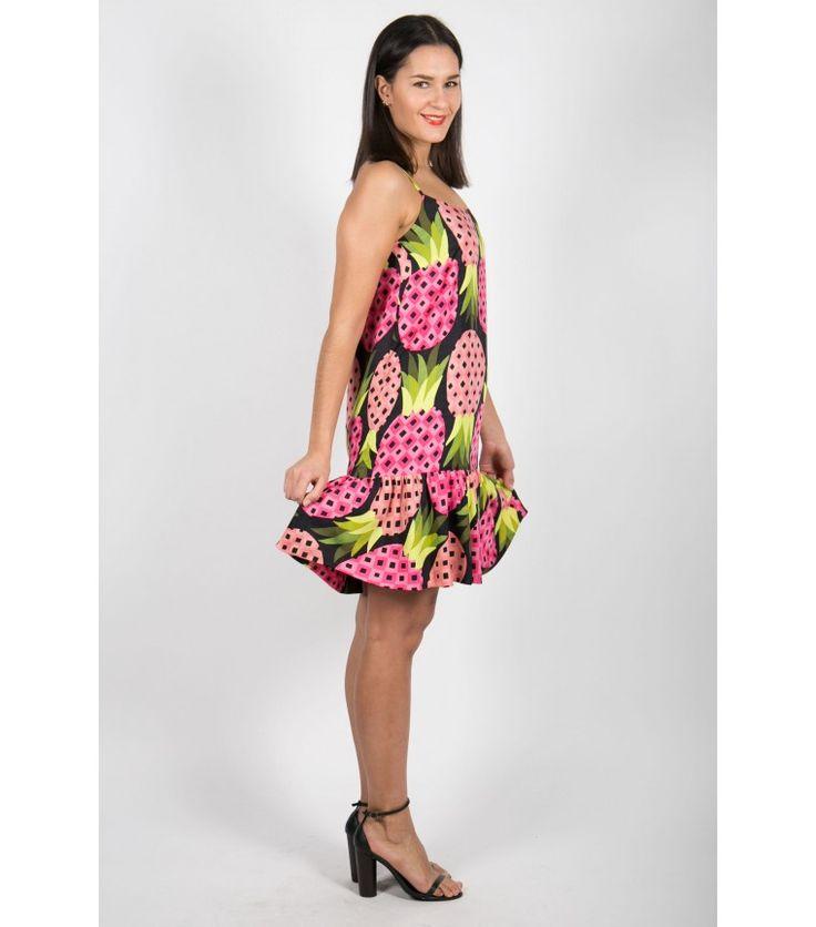 Marimekko Samu-Jussi Koski Pineapple Silk Blend Dress - WST