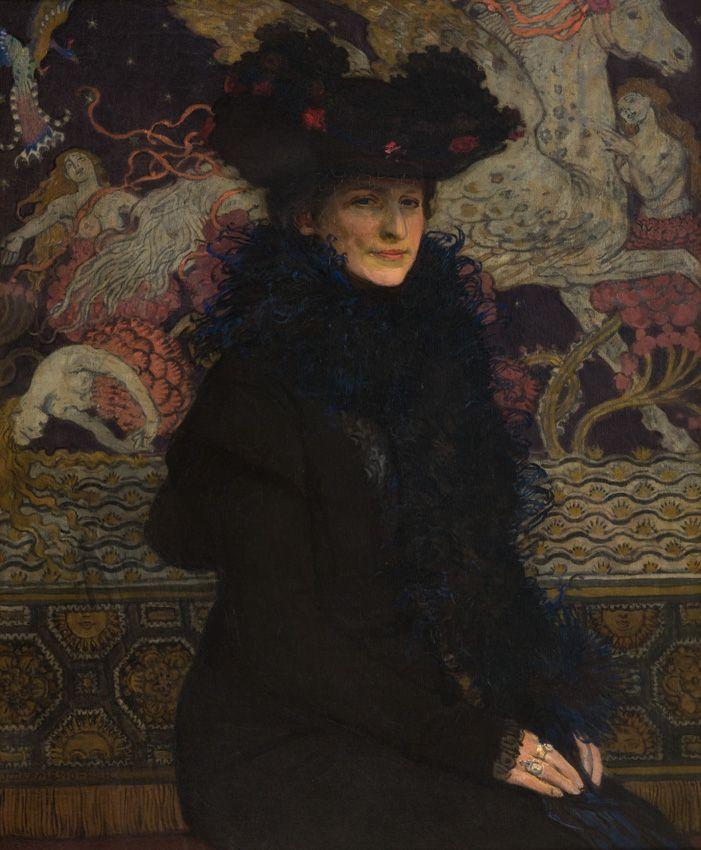 Józef Mehoffer, Portret żony na tle Pegaza