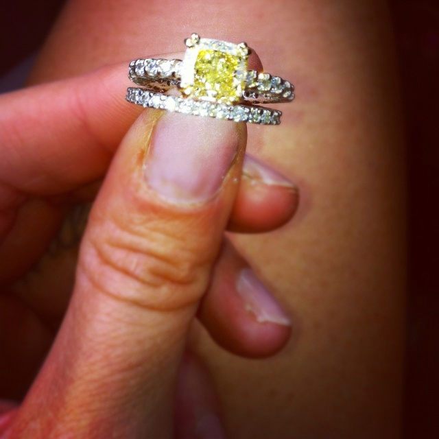 Yellow Diamond Wedding Ring 3 My Dream Only With A Gold