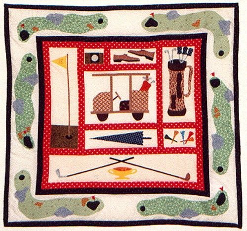 golf quilt patterns - For Jim Kimball