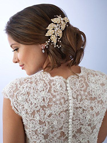 USABride-Bridal-Comb-Floral-Leaf-Design-with-Rhinestones-Wedding-Hair-Accessory-Headpiece-for-Women-TC-2277-G
