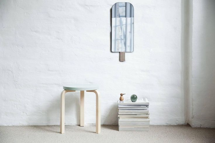 Ice Cream Mirror in Grey by Tor and Nicole Vitner Servé | From a unique collection of antique and modern wall mirrors at https://www.1stdibs.com/furniture/mirrors/wall-mirrors/