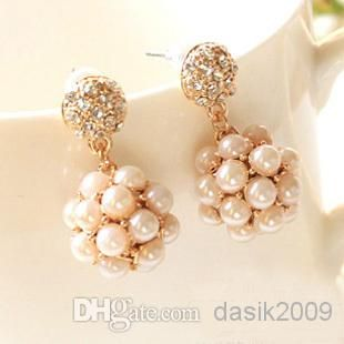 Wholesale Pearl Earrings - Buy Han Edition High Quality Millet Pearl Real Gold Plated Fashion, $17.35 | DHgate