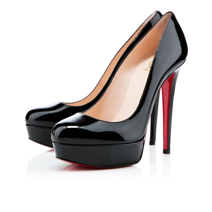 Louboutin Bianca 140mm black patent leather.. I will one day have myself a pair of red backs (: