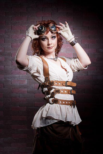 Redhair & bricks by irisabout, via Flickr, via  Steampunk'd #fashion #cosplay