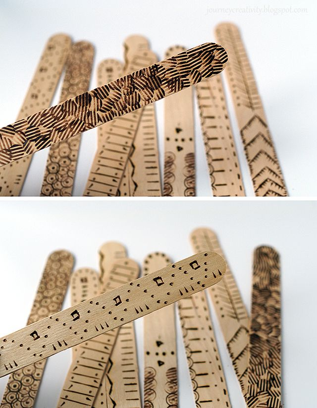 Journey into Creativity: Pyrography bookmarks
