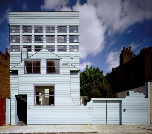 Blue House Hackney London  By Fat Fashion Architecture Taste