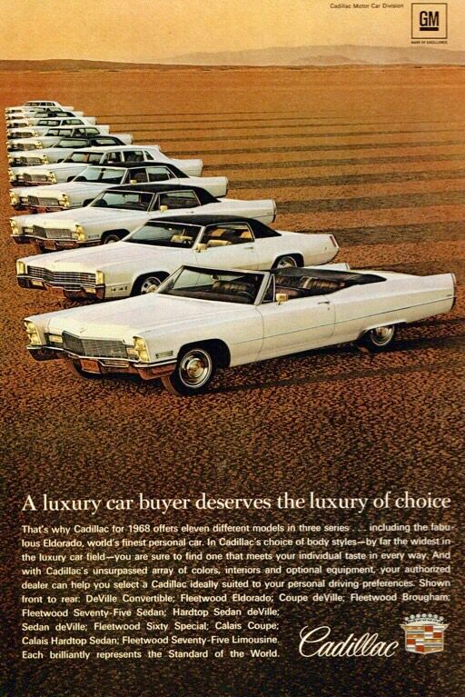 The 1968 Cadillac Line-Up Ad