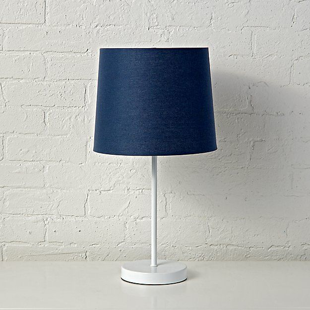 Mix And Match Dark Blue Table Lamp Shade The Land Of Nod Blue