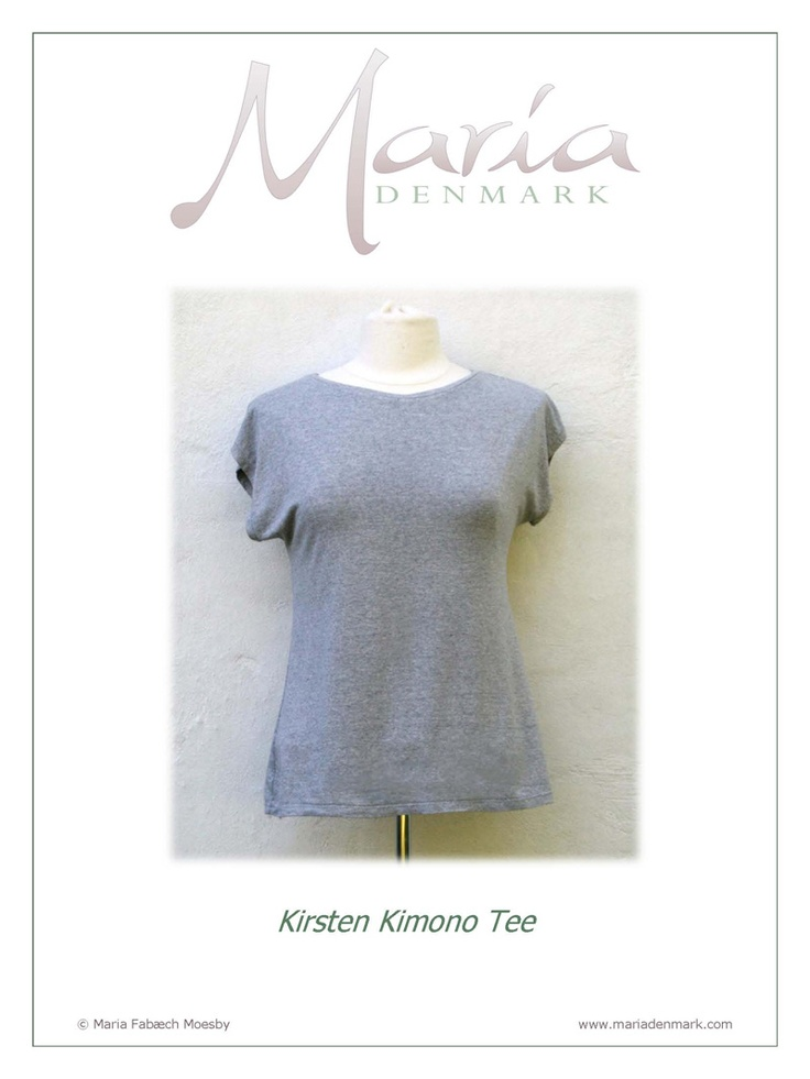 Maria Denmark 101 from Maria Denmark patterns is a Kirsten Kimono Tee Downloadable Pattern sewing pattern (Free)