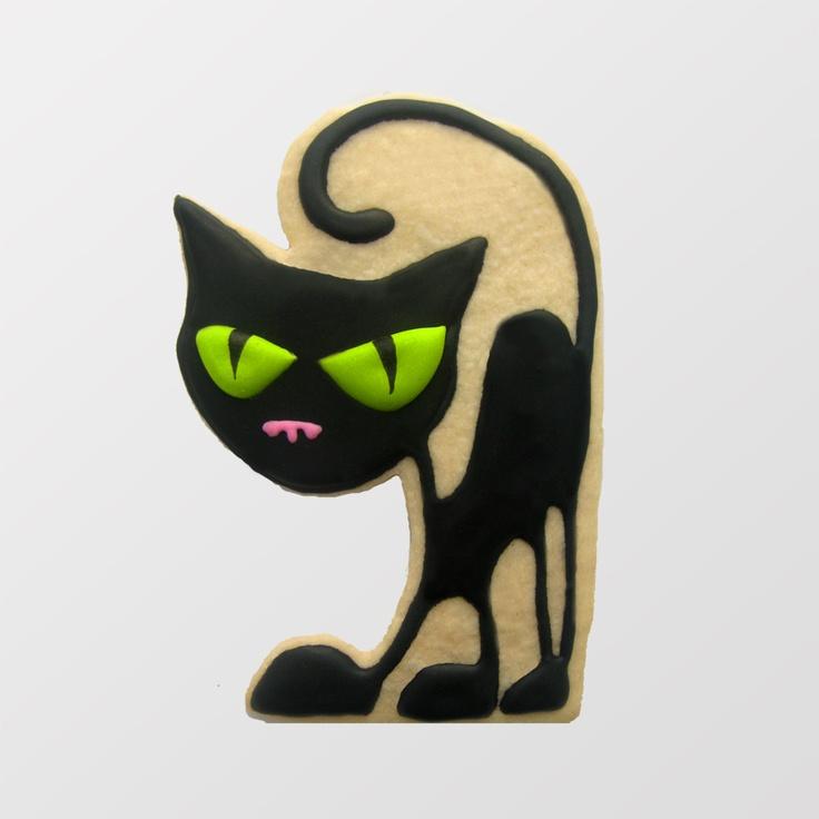 Great black cat sugar cookie.