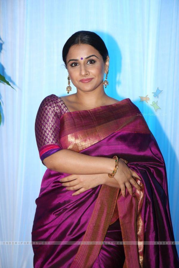 Vidya Balan in purple saree