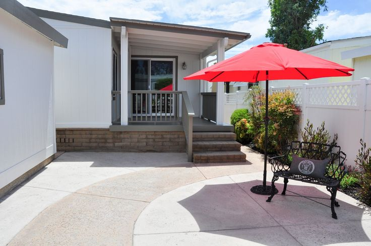Lancer Mobile Home For Sale in Irvine CA, 92620.  like the white walls and grey eaves