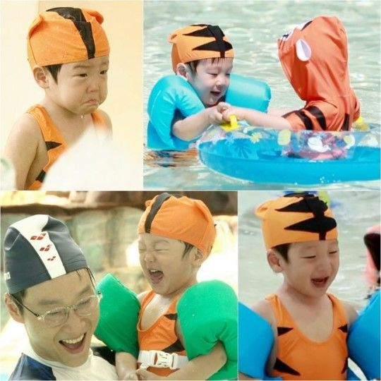 "Seo Eon and Seo Jun Transform into Tiger Swimmers on ""Superman Returns"""