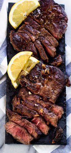 Lemon Garlic Steak (Chuck Blade) | Gimme Delicious