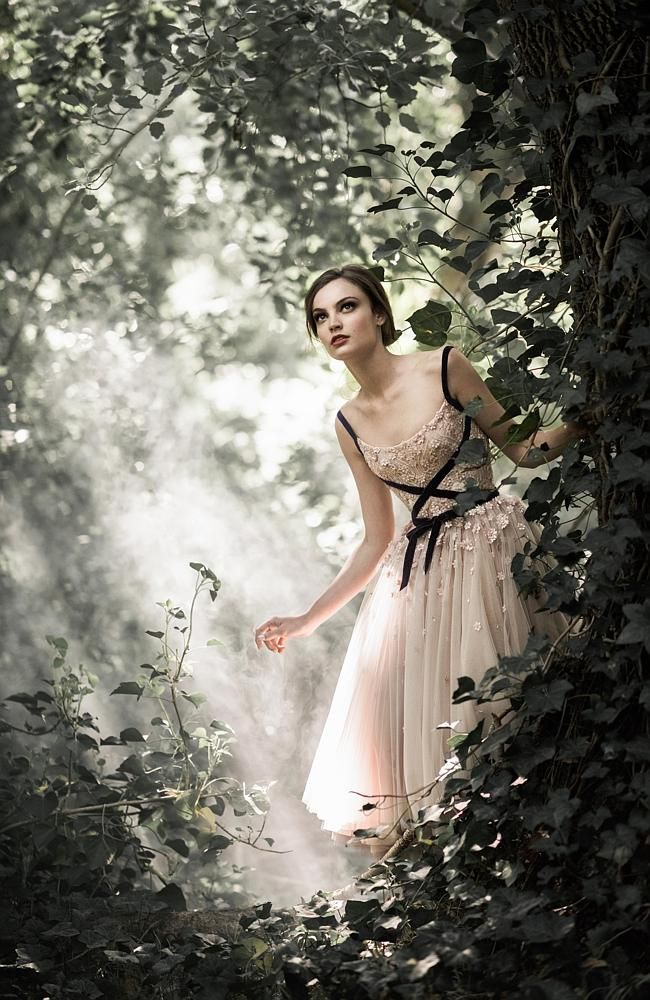 Enchanted forest of floral delights Paolo Sebastian 2015 Autumn Winter couture collection